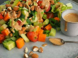 chopped mixed salad with almonds-2