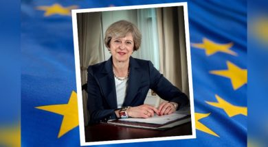 Theresa May eu flag-2