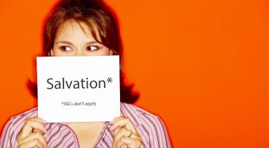 girl holding a salvation sign-2