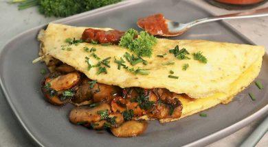 mushroom omelette-2
