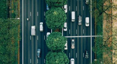 aerial photo of cars-2