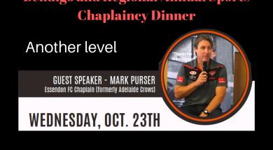 Bendigo & Regional Annual Sports Chaplaincy Dinner