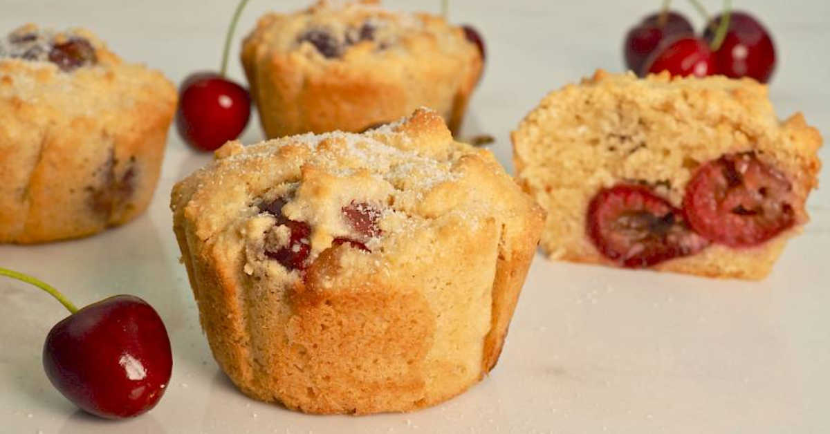 Cherry and Coconut Muffins