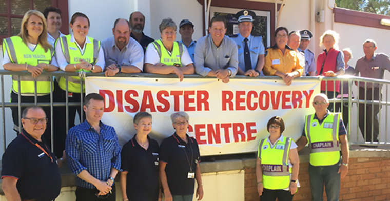 Chaplains at Coolah Bushfire Recovery Centre