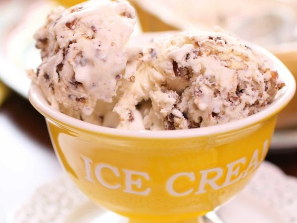 photo shows a bowl of ice cream
