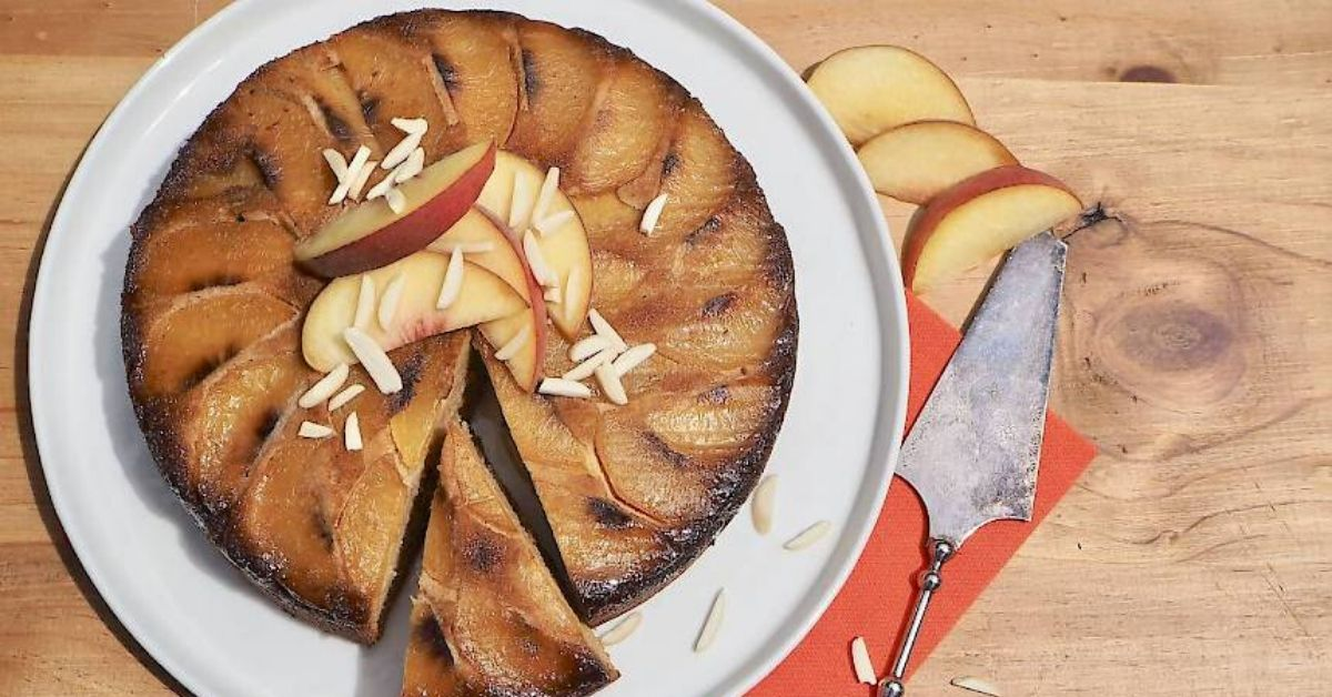 Upside Down Cake With Peach Slices Recipe