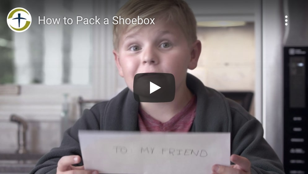 how to pack a shoebox video