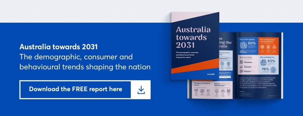 australia towards 2031. the demographic, consumer and behavioural trends shaping the nation. download the free report here